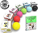 Lacrosse Bälle or Igel-Massageball Roller - BESTE High Density Deep Tissue Akupressur - GRATIS EBOOK - Myofascial Release - Druckpunkt - Fersensporn - Fußreflexzonenmassage - Stress - Therapie