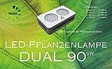 LED-Pflanzenlampe DUAL 90VR Vollspektrum für Blüte und Fruchtpflanzen für bis zu 1,4m² Beleuchtungsfläche
