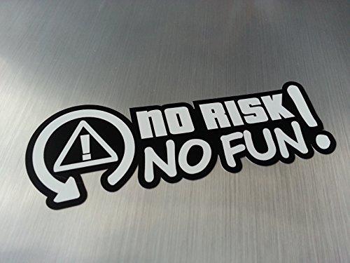 No risk no fun Shocker Hand Auto Aufkleber JDM Tuning OEM DUB Decal Stickerbomb Bombing fun w