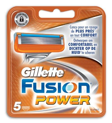Gillette Fusion Power Rasierklingen, 5Stück (Aftershave Herren Gillette)