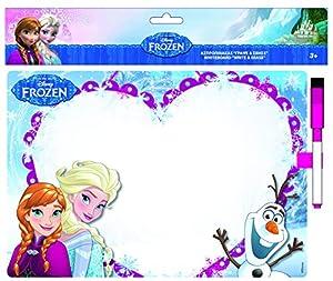 Vamos-061255-Cuadro con rotulador borrable, diseño de Frozen, el Reino del Hielo, 29 X 20 Cm, Color Blanco