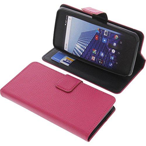 foto-kontor Tasche für Archos Access 45 4G Book Style pink Schutz Hülle Buch