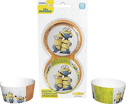 Dekoback 32223 Muffinförmchen Minions, 50 stück