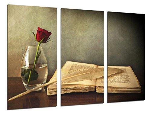 Cuadro Moderno Fotografico Pluma y Libro Vintage, Antiguo, 97 x 62 cm ref. 26425