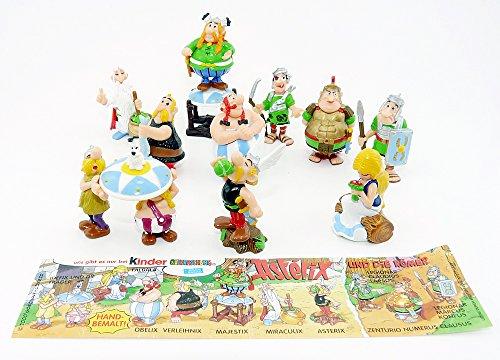 Preisvergleich Produktbild Kinder Überraschung 10 Asterix und Obelix Figuren aus dem Jahr 2000, Komplettsätz