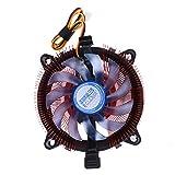 DOMYBEST Silencieux Radiateur CPU Cuivre Plaqué Ventilateur de Refroidissement 12VDC Support CPU:Intel LGA 775/1156/1155,AMD AM2/3/754/939/940