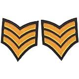 Parche de HotFix Patch iron on parches de aplicación del sargento Insignia del ejército