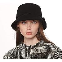 L&L Sombrero Sombrero de Mujer Otoño e Invierno Tendencia de Moda al Aire Libre Elegante Gorro de Viaje cálido de Europa y América (Color : A)