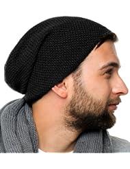 Osaka Hat - Bonnet tendance tricoté pour hommes et femmes - 2014, Bonnet 100% coton (noir)