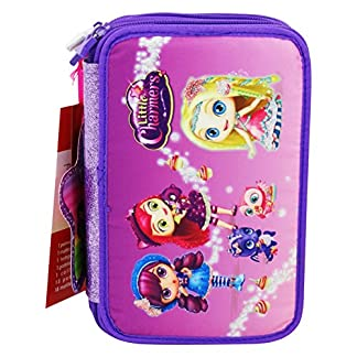 Little Charmers Estuche Escolar Làpices de colores Plumier triple para Ninos