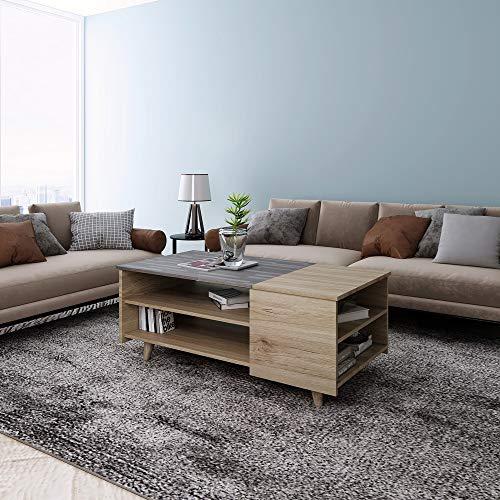 Happy Home Couchtisch HWT13-HOL Wohnzimmertisch Sofatisch Tisch Holz Beistell