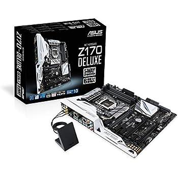 Asus Z170-DELUXE Intel Scheda Madre, DDR4 1151, Nero