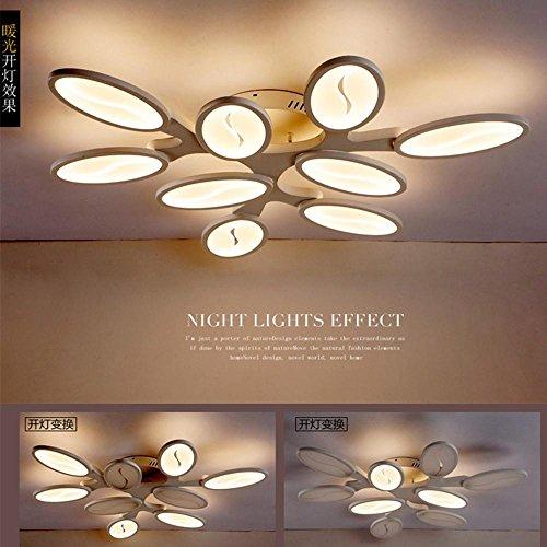 LED-Deckenleuchte Wohnzimmerleuchten Einfache moderne Creative Art Persönlichkeit Schlafzimmer Restaurant Dekorative Leuchten , 9 head 90w