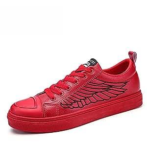 XIAOLIN- Herrenschuhe Rot Plate Schuhe Gemeinschaft Geist Rote Schuhe ( Farbe : Weiß , größe : EU39/UK6/CN39 )