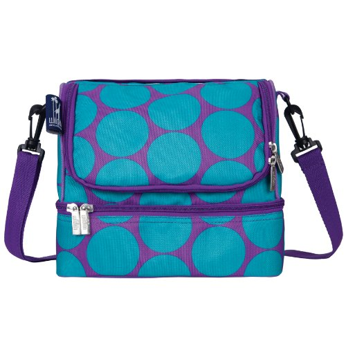 big-dot-aqua-double-decker-lunch-bag