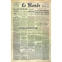COMBAT [No 3275] du 12/01/1955 - PIERRE SCHNEITER ELU AU 3EME TOUR DE SCRUTIN CONTRE LE TROQUER - LES ENTRETIENS MENDES-FRANCE - SCELBA - 1ERS ACCORDS SUR UNE POLITIQUE COMMUNE EN AFRIQUE - LES DECRETS SUR L'AMENAGEMENT DU TERRITOIRE - LA GRANDE PITIE DES MONUMENTS FRANCAIS - LE COSTA-RICA ENVAHI PAR DES REBELLES VENUS DU NICARAGUA