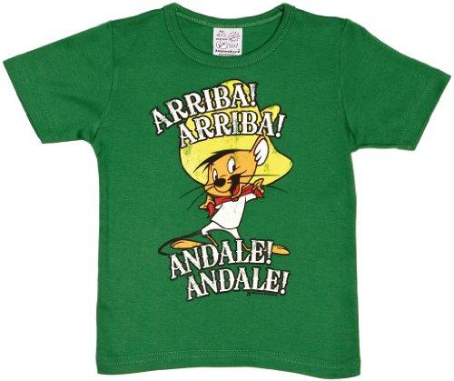 Logoshirt T-Shirt pour Enfant Speedy Gonzales - Speedy González - Looney Tunes - Arriba Andale - T-Shirt à col Rond de Vert - Design Original sous Licence, Taille 170/176, 15-16 Ans