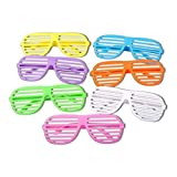Schramm® 6er Pack Partybrille Bunt 6 Farben erhältlich Partybrillen Bunt Gitterbrille Spaß Spass Brille Atzen Brillen Party Brille