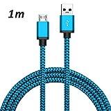 TheSmartGuard 1 x Huawei P10 Lite Datenkabel/Ladekabel/Micro USB Premium Kabel in Blau - 1 Meter