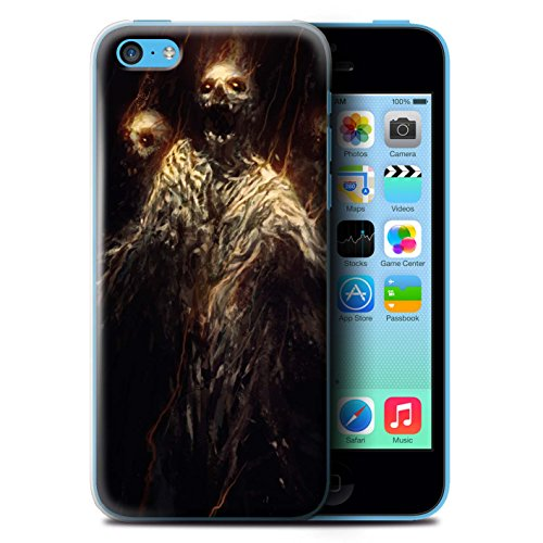 Offiziell Chris Cold Hülle / Case für Apple iPhone 5C / Pack 6pcs Muster / Dämonisches Tier Kollektion Ghouls der Furcht