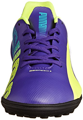Puma Evospeed 5.3 Tt, Chaussures de football homme Violet (Prism Violet-Fluro Yellow-Scuba Blue 01)