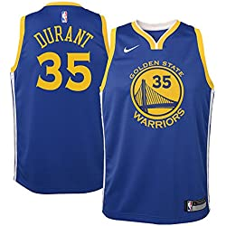 Nike NBA Golden State Warriors Kevin Durant 35 KD 2017 2018 Icon Edition Jersey Oficial Away, Camiseta de Niño