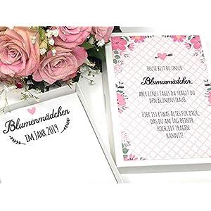 Hochzeit Geschenk Blumenmädchen - Taschentuch für Freudentränen
