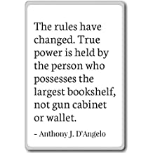 PhotoMagnets The Rules Have Changed. True Power is h. - Anthony J. D'Angelo - Quotes Fridge Magnet, White - Calamità da frigo