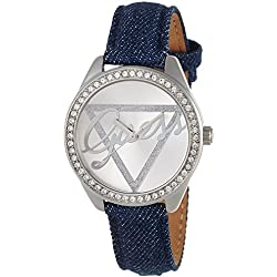 W0456L1 Guess Women's Quartz Analogue Watch-Bracelet Silver Dial Blue