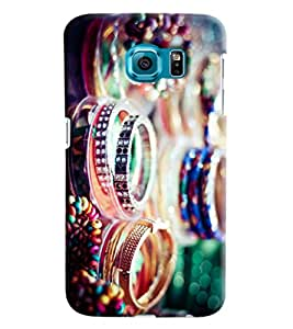 Blue Throat Bangles Inspired Hard Plastic Printed Back Cover/Case For Samsung Galaxy S6 Edge
