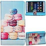 Voguecase® für Huawei P8 Lite(5 Zoll), Kunstleder Tasche PU Schutzhülle Tasche Leder Brieftasche Hülle Case Cover (Brot) + Gratis Universal Eingabestift
