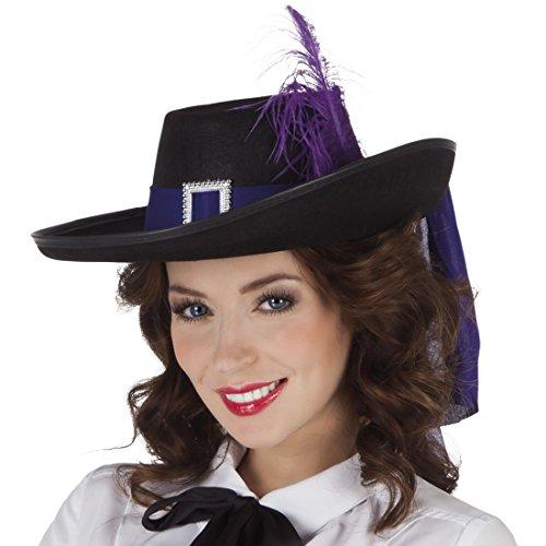 Halloweenia - Damen Karnevalsaccessoire- Hut Musketiere, Violett (Musketiere Kostüm Für Mädchen)