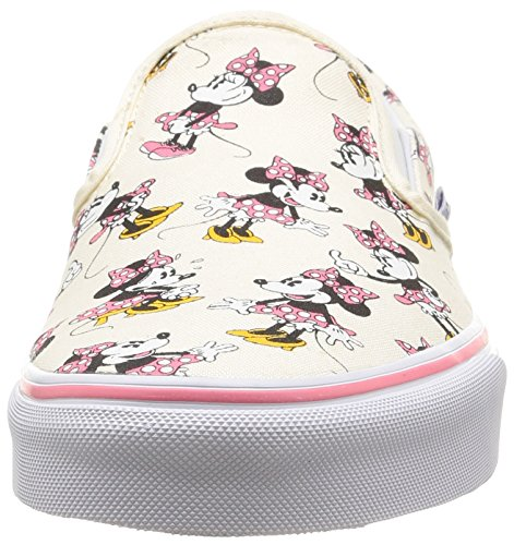 Vans VZMRFJH, Unisex Adults' Low-Top Sneakers, Multicolor (disney / minnie Mouse / classic White), 4.5 UK (37 EU)