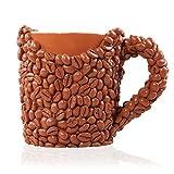 LA Tazza Chicchi di Caffè, Novità Coppa di Caffè per Casa o Ufficio, Bellissimo Motivo Realistico, Chicchi di Caffè in Resina, Perfetta come Regalo di Compleanno