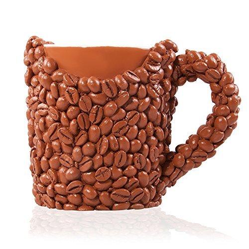 La tazza chicchi di caffè, svegliati e senti l'odore del caffè, originale coppa di caffè per uomini e donne, tazza mug di compleanno perfetta per marito, papà, mamma, fratello, sorella o amica