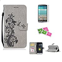 LG Stylo2/LS775 Case, JGNTJLS [New Style for SS/AW] [with Free Tempered Glass Screen Protector and Cleaning Paper] Simple, Stylish, Embossing-Pattern(Pure Candy-Colorful, Artificial-Wrinkle Design), Photos Frame Additional(Transparent HD Setting Slot), PU