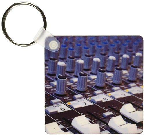 3dRose Audio Mixer Board Mixing Engineer Knöpfe Slider Buttons Studio Recording Keyring, 6 cm, variiert (Recording-mixer Studio)