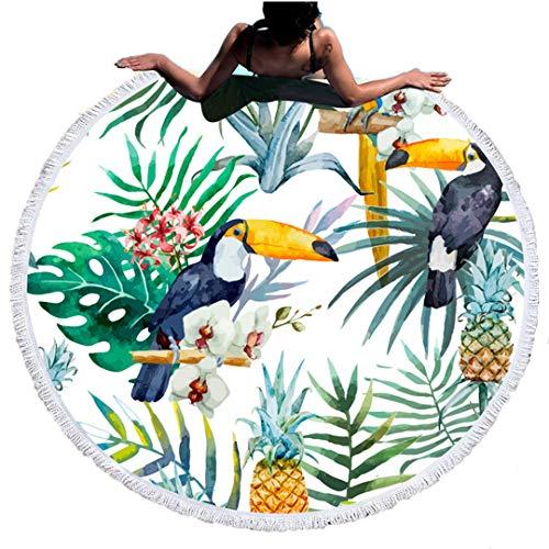 Runde Stranddecke Picknickdecke Wandbehang Datura Yoga Matten Reisehandtuch Sonnencreme Outdoor Wandern Schwimmen Bergsteigen Handtücher Tischdecke (Muster 9)