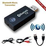 Best Transmisores de alimentación de accesorios Bluetooth - Bluetooth transmisor, yetor 3,5 mm estéreo portátil inalámbrico Review