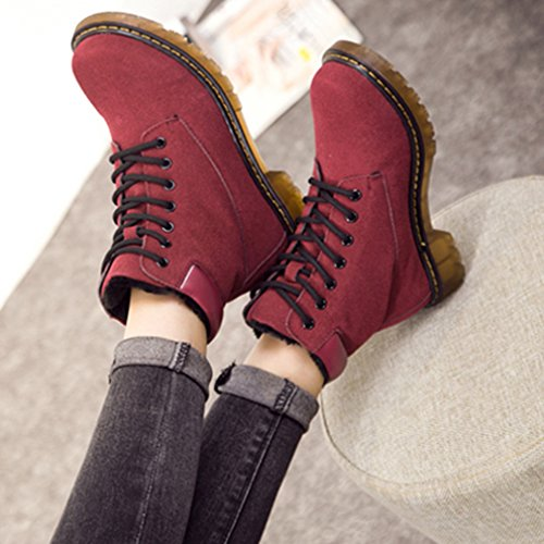 Solshine , chaussures compensées femme Wein Rot