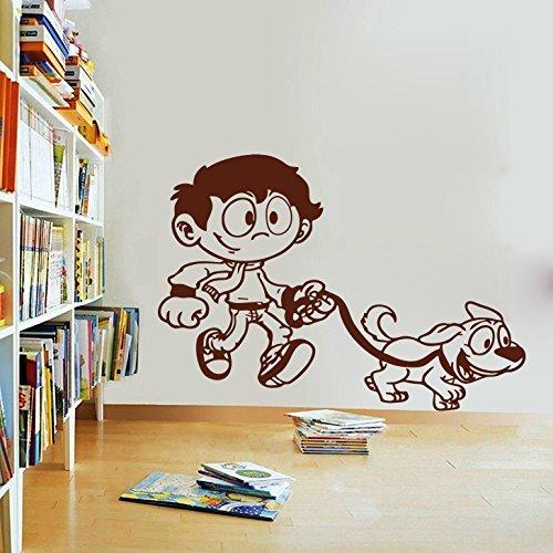 Zigzacs Wall Sticker Boy Mascot Office décor Removable Wall Decals Art Stickers