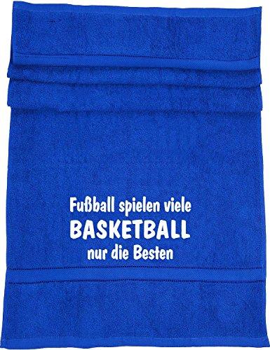 Fußball spielen viele, Basketball nur die Besten; Badetuch Sport, royalblau
