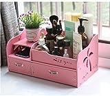 MMM Escritorio Caja de almacenamiento de cajón de cosméticos caja de almacenamiento Estantes vendaje grande ( Color : Pink )