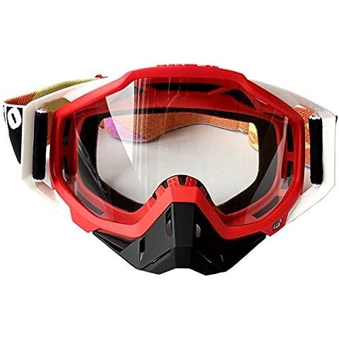 Sci Di Fondo Occhiali Motocicletta Corsa All'aperto Ciclismo Goggle Occhiali Da Sci,Red