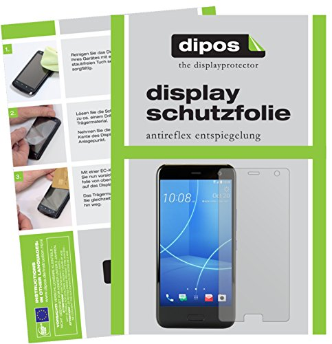 dipos I 2X Schutzfolie matt passend für HTC U11 Life Folie Bildschirmschutzfolie