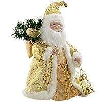 WeRChristmas 30 cm Fibre Optic Father Christmas Tree Top Topper Decoration