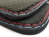 Fußmatten (( MP4 - Actros )) Doppelnaht rot-blau Original Qualität Velours Autoteppiche Automatten