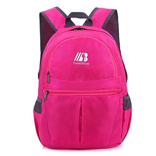 der rucksack portable multifunktions - kleine faltbare großen raum freizeit outdoor - sport auf reisen mit tasche wandern business - studenten packen 5colors H43 x L30 x T16 CM rose red