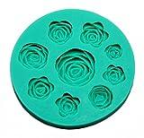 Vivin Rose-Blumen-Form-Kuchen-Deckel Dekoration Rollfondant Zuckerglasur -Fondant Farbe in gelegentlichem