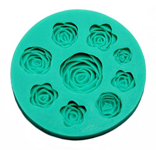 Vivin Rose-Blumen-Form-Kuchen-Deckel Dekoration Rollfondant Zuckerglasur -Fondant Farbe in gelegentlichem (Halloween Icing Dekorationen)